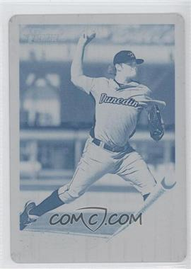 2011 Topps Heritage Minor League Edition - [Base] - Printing Plate Cyan #140 - Chad Jenkins /1