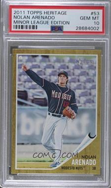 2011 Topps Heritage Minor League Edition - [Base] #53 - Nolan Arenado [PSA10GEMMT]