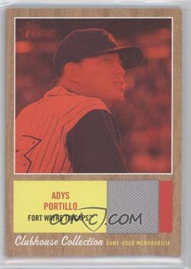 2011 Topps Heritage Minor League Edition - Clubhouse Collection Relics - Red Tint #CCR-AP - Adys Portillo /99