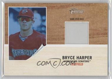 2011 Topps Heritage Minor League Edition - Game-Used Base Relics - Blue Tint #GUB-BH - Bryce Harper /299