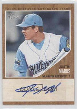 2011 Topps Heritage Minor League Edition - Real One Certified Autographs - [Autographed] #RA-JMA - Justin Marks /861
