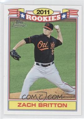 2011 Topps Lineage - Rookies #10 - Zach Britton
