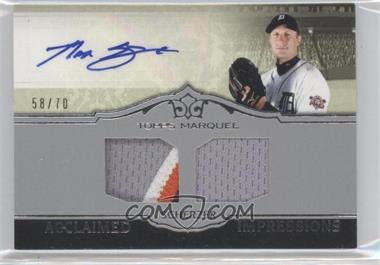 2011 Topps Marquee - Acclaimed Impressions - Dual #AID-48 - Max Scherzer /70