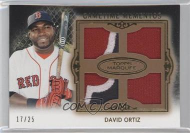 2011 Topps Marquee - Gametime Momentos Quad Relics - Gold #GMQR-3 - David Ortiz /25
