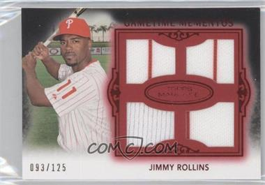2011 Topps Marquee - Gametime Momentos Quad Relics - Red #GMQR-43 - Jimmy Rollins /150