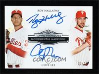 Roy Halladay, Cliff Lee [Noted] #/15