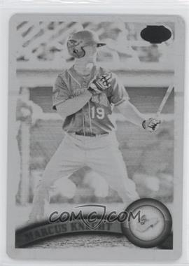 2011 Topps Pro Debut - [Base] - Printing Plate Black #227 - Marcus Knecht /1