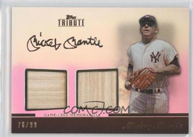 2011 Topps Tribute - Dual Relic #TDR-MM - Mickey Mantle /99