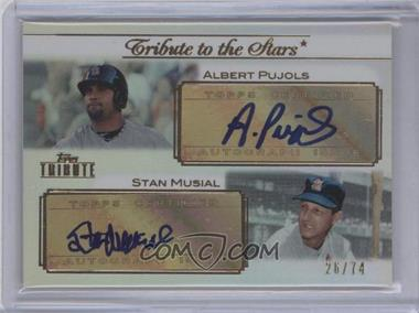 2011 Topps Tribute - Tribute to the Stars Dual - Certified Autograph [Autographed] #TSA-PM - Albert Pujols, Stan Musial /74