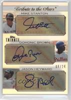 Mike Stanton, Domonic Brown, Jason Heyward /24
