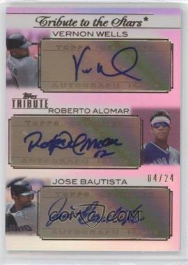 2011 Topps Tribute - Tribute to the Stars Triple - Certified Autograph [Autographed] #TSTA-WAB - Vernon Wells, Roberto Alomar, Jose Bautista /24