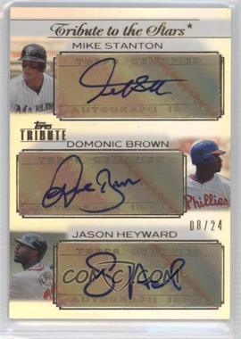 2011 Topps Tribute - Tribute to the Stars Triple Autograph #TSTA-SBH - Giancarlo Stanton, Domonic Brown, Jason Heyward /24