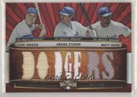 Duke Snider, Andre Ethier, Matt Kemp #/36
