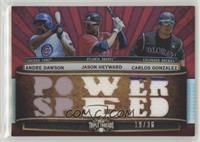 Jason Heyward, Andre Dawson, Carlos Gonzalez /36