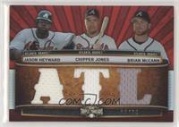 Jason Heyward, Chipper Jones, Brian McCann /36 [EXtoNM]