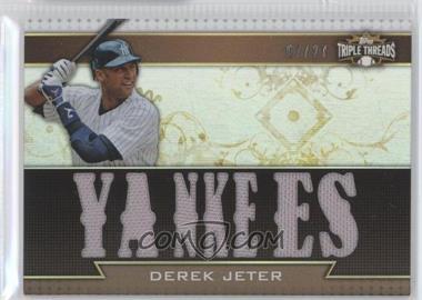 2011 Topps Triple Threads - Triple Relics - Sepia #TTR-4 - Derek Jeter /27