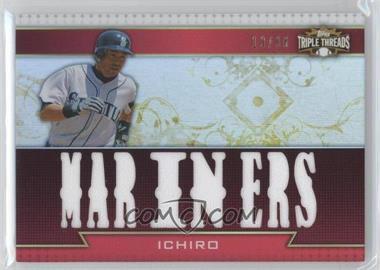 2011 Topps Triple Threads - Triple Relics #TTR-8 - Ichiro Suzuki /36
