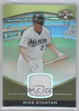 2011 Topps Triple Threads - Unity Relic - Gold #TTUSR-121 - Mike Stanton /9