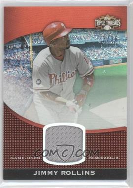 2011 Topps Triple Threads - Unity Relic #TTUSR-156 - Jimmy Rollins /36