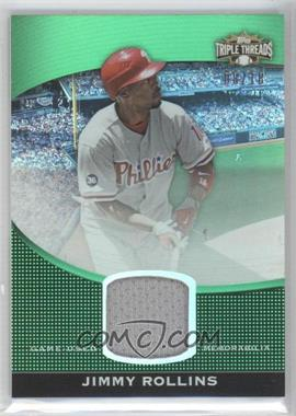 2011 Topps Triple Threads - Unity Relics - Emerald #TTUSR-156 - Jimmy Rollins /18