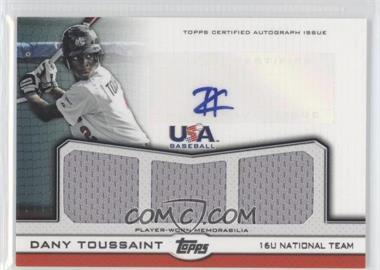 2011 Topps USA Baseball Team - Autographed Triple Relics #ATR-DT - Dany Toussaint /64