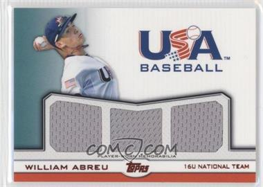 2011 Topps USA Baseball Team - Triple Relic - Red #TR-WA - William Abreu /25
