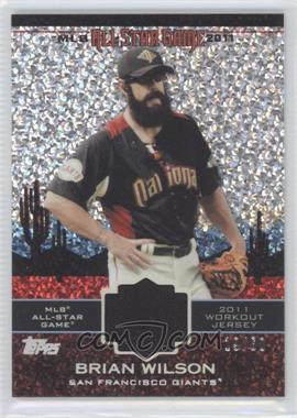 2011 Topps Update Series - All-Star Stitches Relics - Platinum #AS-48 - Brian Wilson /60