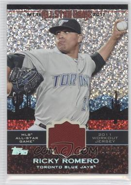 2011 Topps Update Series - All-Star Stitches Relics - Platinum #AS-75 - Ricky Romero /60