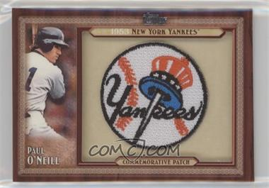 2011 Topps Update Series - Blaster Box Throwback Manufactured Patch #TLMP-PO - Paul O'Neill