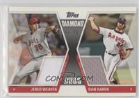 Jered Weaver, Dan Haren /50