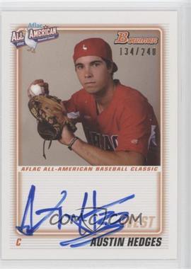 2012 Bowman - Aflac All-American Certified Autographs - [Autographed] #AFLAC-AH - Austin Hedges /240