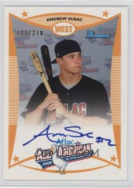 2012 Bowman - Aflac All-American Certified Autographs - [Autographed] #AFLAC-AS - Andrew Susac /210