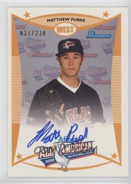2012 Bowman - Aflac All-American Certified Autographs - [Autographed] #AFLAC-MP - Matt Purke /230