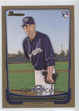 2012 Bowman - [Base] - Gold Border #197 - Michael Fiers