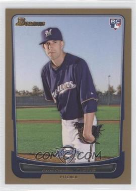 2012 Bowman - [Base] - Gold Border #197 - Michael Fiers