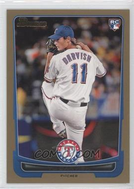 2012 Bowman - [Base] - Gold Border #209 - Yu Darvish