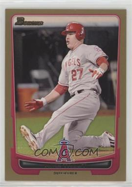 2012 Bowman - [Base] - Gold Border #34 - Mike Trout