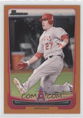 2012 Bowman - [Base] - Orange Border #34 - Mike Trout /250
