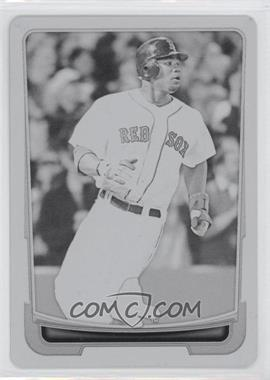 2012 Bowman - [Base] - Printing Plate Black #39 - Carl Crawford /1