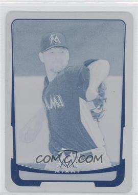 2012 Bowman - [Base] - Printing Plate Cyan #119 - Josh Johnson /1