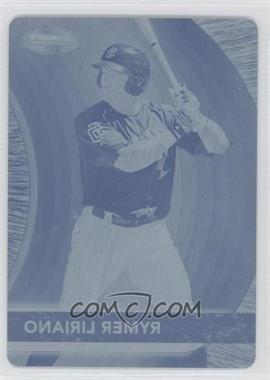 2012 Bowman - Bowman's Best Prospects - Printing Plate Cyan #BBP19 - Rymer Liriano /1