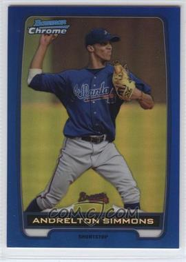 2012 Bowman - Chrome Prospects - Blue Refractor #BCP109 - Andrelton Simmons /250