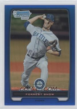 2012 Bowman - Chrome Prospects - Blue Refractor #BCP207 - Forrest Snow /250