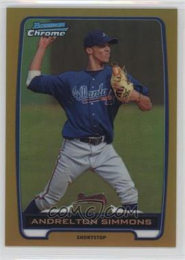 2012 Bowman - Chrome Prospects - Gold Refractor #BCP109 - Andrelton Simmons /50