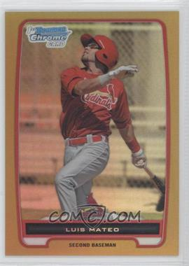 2012 Bowman - Chrome Prospects - Gold Refractor #BCP153 - Luis Mateo /50