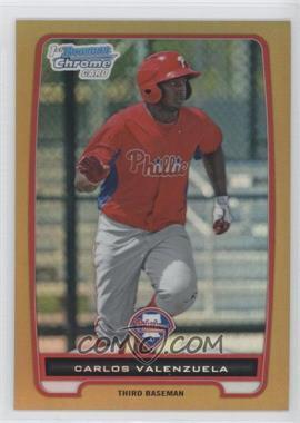2012 Bowman - Chrome Prospects - Gold Refractor #BCP165 - Carlos Valenzuela /50