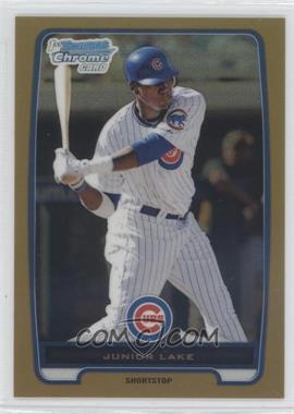 2012 Bowman - Chrome Prospects - Gold Refractor #BCP213 - Junior Lake /50