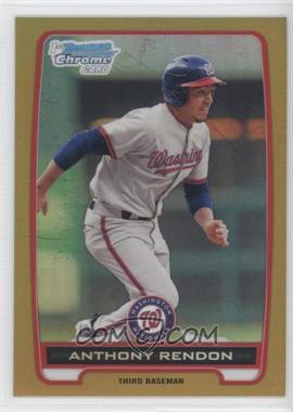 2012 Bowman - Chrome Prospects - Gold Refractor #BCP88 - Anthony Rendon /50