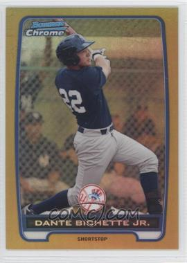 2012 Bowman - Chrome Prospects - Gold Refractor #BCP99 - Dante Bichette Jr. /50
