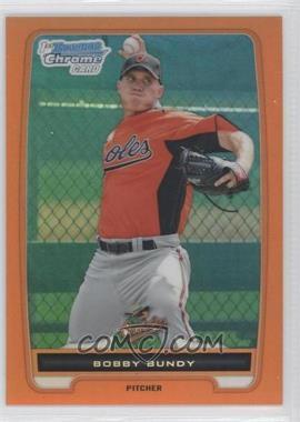 2012 Bowman - Chrome Prospects - Orange Refractor #BCP198 - Bobby Bundy /25